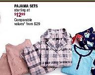 Burlington Coat Factory Black Friday: Pajama Sets - Starting At A$12.99