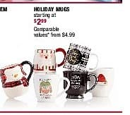 Burlington Coat Factory Black Friday: Holiday Mugs - Starting At $2.99