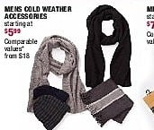 Burlington Coat Factory Black Friday: Mens Cold-Weather Accessories - Starting At $5.99