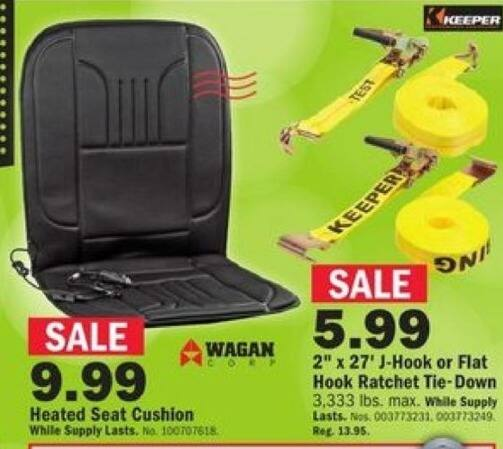 Mills Fleet Farm Black Friday: Wagan Corp Heated Seat Cushion for $9.99