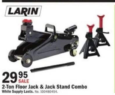 Mills Fleet Farm Black Friday: Larin 2-Ton Capacity Service Jack & Jack Stands Combo for $29.95