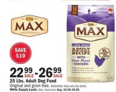 Mills Fleet Farm Black Friday: Nutro Max 25 Lbs. Original And Grain-Free Adult Dog Food. for $22.99 - $26.99
