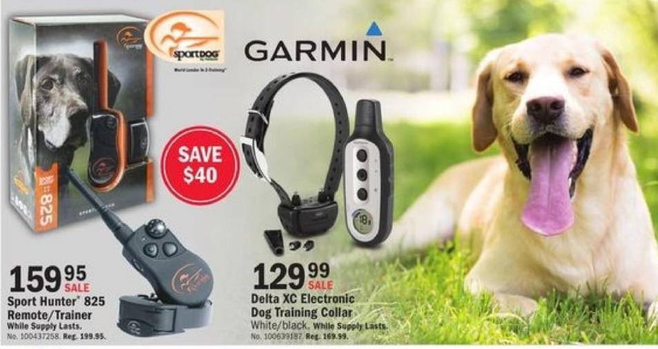 Mills Fleet Farm Black Friday: Garmin Delta XC Electronic Dog Training Collar. White/Black for $129.99
