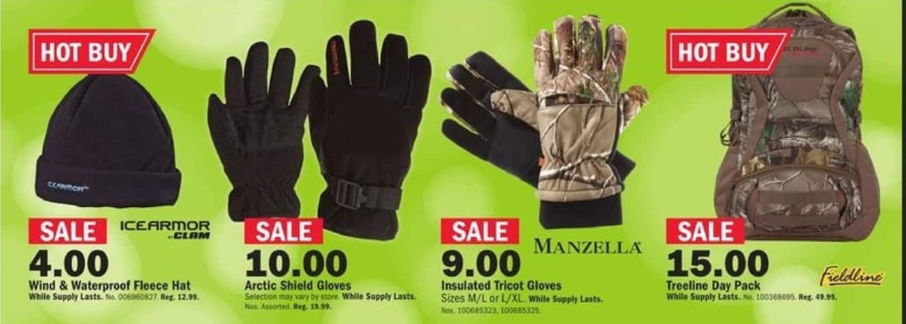 Mills Fleet Farm Black Friday: Insulated Tricot Gloves In S/M/L/ Or XL for $9.00
