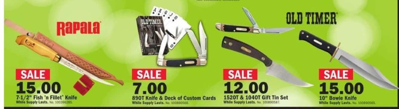"Mills Fleet Farm Black Friday: Rapala 7.5"" Fish'N Fillet Knife for $15.00"