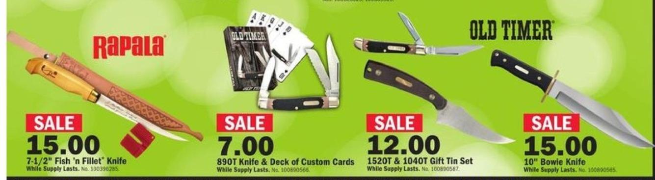 Mills Fleet Farm Black Friday: Old Timer 89OT Knife & Deck Of Custom Cards for $7.00