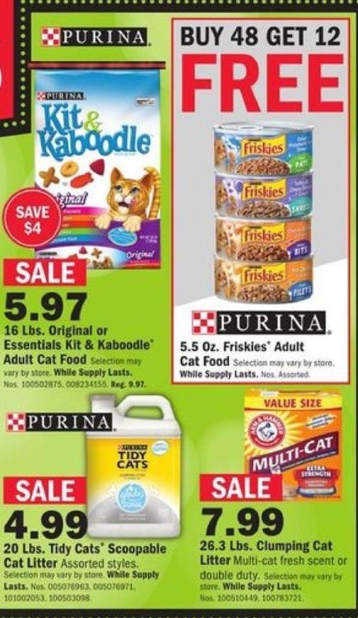 Mills Fleet Farm Black Friday: Friskies 5.5 Oz. Friskies Adult Cat Food - Buy 48 Get 12 Free