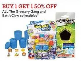 Toys R Us Black Friday: All Grossery Gang And BattleClaw Collectibles - B1G1 50% Off