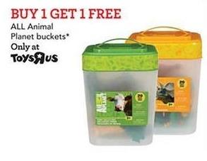 Toys R Us Black Friday: All Animal Buckets - B1G1  Free
