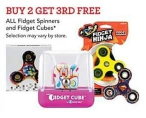 Toys R Us Black Friday: All Fidget Spinners and Fidget Cubes - Buy 2 Get 3rd Free