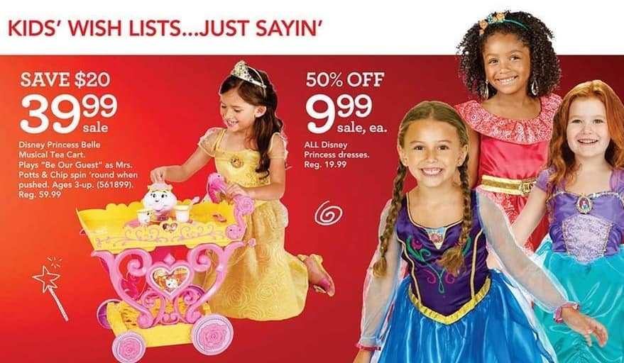 Toys R Us Black Friday: All Disney Princess Dresses for $9.99
