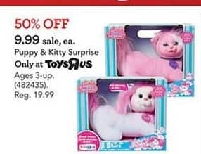 Toys R Us Black Friday: Puppy & Kitty  Surprise for $9.99