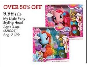 Toys R Us Black Friday: My Little Pony Styling Head for $9.99