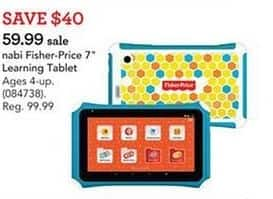 """Toys R Us Black Friday: Nabi Fisher-Price Blue 7"""" Learning Tablet for $59.99"""