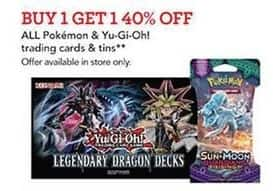 Toys R Us Black Friday: All Pokemon & Yu-Gi-Oh! Trading cars And Tins - B1G1 40% Off