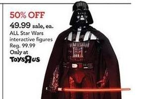 Toys R Us Black Friday: All Star Wars Interactive Figures for $49.99
