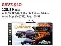 Toys R Us Black Friday: Anki Overdrive: Fast & Furious Edition for $129.99