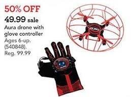 Toys R Us Black Friday: Aura Red Drone w/ Glove Controller for $49.99