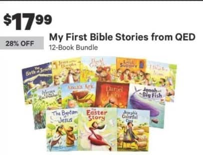 Groupon Black Friday: QED My First Bible Stories 12-Book Bundle for $17.99