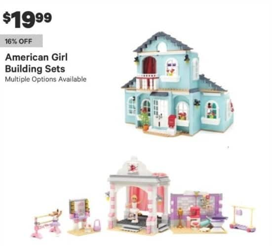 Groupon Black Friday: American Girl Building Sets (Multiple Options Available) for $19.99