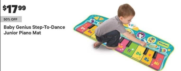 Groupon Black Friday: Baby Genius Step-To-Dance Junior Piano Mat for $17.99