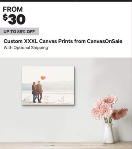 Groupon Black Friday: Custom XXXL Canvas Prints w/ Optional Shipping - From $30.00