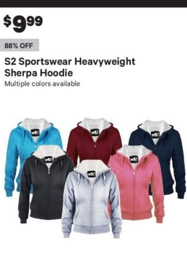 Groupon Black Friday: S2 Sportswear Heavyweight Sherpa Womens Hoodie for $9.99