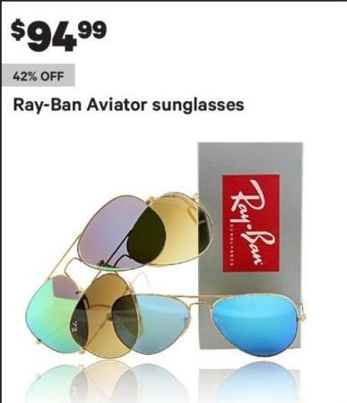 Groupon Black Friday: Ray-Ban Aviator Sunglasses for $94.99