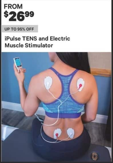 Groupon Black Friday: iPulse Tens & Electric Muscle Stimulator - From $ 26.99