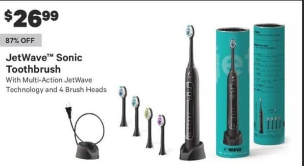Groupon Black Friday: JetWave Sonic Toothbrush w/ Multi-Action JetWave Technology and 4 Brush Heads for $26.99
