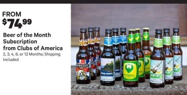 Groupon Black Friday: Clubs Of America Beer Of The Month  w/ 2,3,6, or 12 Months Subscriptions+ Free Shipping - From $74.99