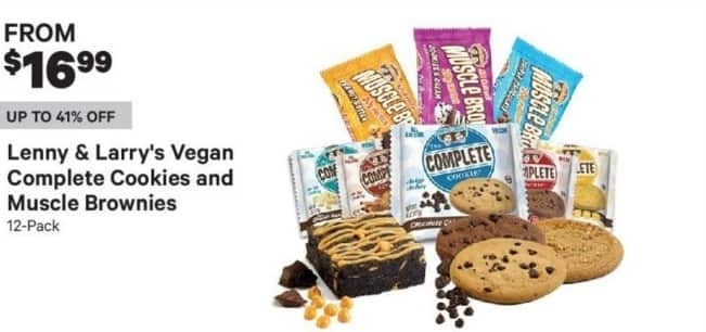 Groupon Black Friday: 12-Pack Of Lenny & Larry's Vegan Complete Cookies And Muscle Brownies - From $16.99