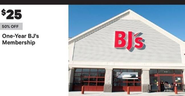 Groupon Black Friday: One-Year BJ's Membership for $25.00