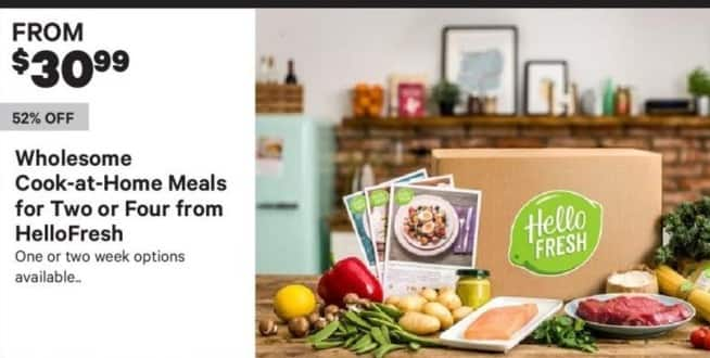 Groupon Black Friday: HelloFresh Wholesome Cook-At-Home Meals For Two Or Four - From $30.99
