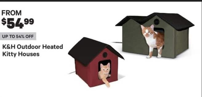 Groupon Black Friday: K&H Outdoor Heated Kitty Houses - From $54.99