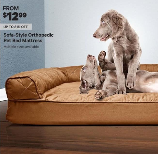 Groupon Black Friday: Sofa-Style Orthopedic Pet Bed Mattress - From $ 12.99