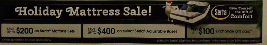 AAFES Cyber Monday: Serta Mattress Sets - Save Up to $200