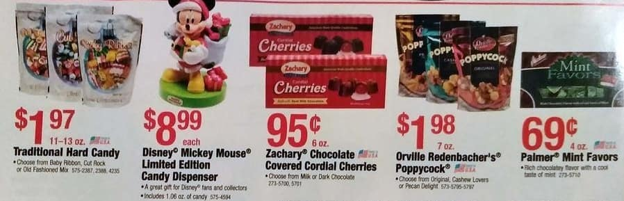 Menards Black Friday: Zachary Chocolate Covered Cordial Cherries (Choose From Milk Or Dark Chocolate) for $0.95