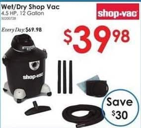 Rural King Black Friday: Wet/Dry 4.5hP 12-Gallon Shop Vac for $39.98