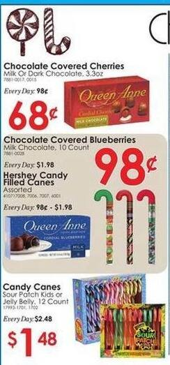 Rural King Black Friday: Hershey Candy Filled Canes (Assorted) for $0.98
