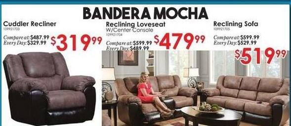Rural King Black Friday: Bandera Mocha Reclining Sofa for $519.99
