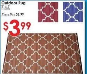 Rural King Black Friday: Outdoor 3'x5'  Rug for $3.99