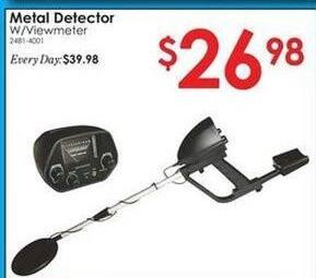 Rural King Black Friday: Metal Detector w/Viewmeter for $26.98