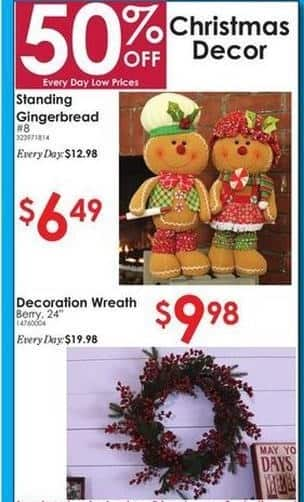 Rural King Black Friday: Standing Gingerbread Christmas Decor for $6.49