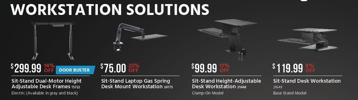 Monoprice Black Friday: Monoprice Sit-Stand Laptop Gas Spring Desk Mount Workstation for $75.00