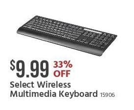 Monoprice Black Friday: Select Wireless Multimedia Keyboard for $9.99