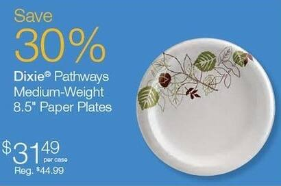 "Quill Cyber Monday: Dixie Pathways Medium-Weight 8.5"" Paper Plates for $31.49"