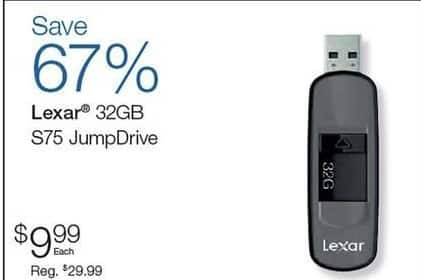 Quill Cyber Monday: Lexar 32 GB s75 JumpDrive for $9.99