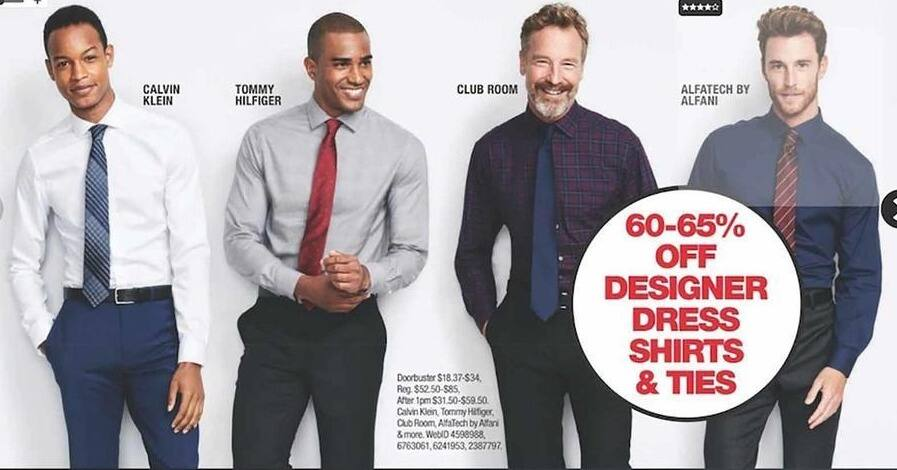 8e950f70 Macy's Black Friday: Dress Shirts And Ties from Calvin Klein, Tommy  Hilfiger, Club Room and More for $52.50 - $85.00