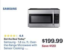 Best Buy Black Friday Samsung 18 Cu Ft Over The Range Microwave